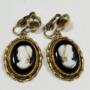 Earrings caneo vintage custom jewelry gold tone
